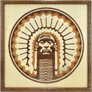 Chief Illiniwek Marquetry
