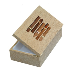 humidor with custom cigar inlay