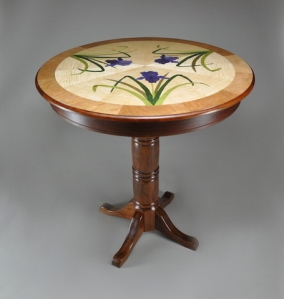 Iris Marquetry Pub Table Full