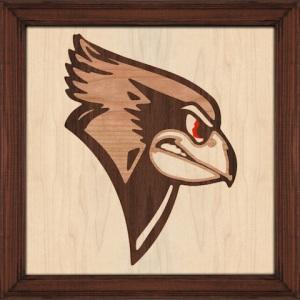 Illinois State University Redbird Logo Marquetry