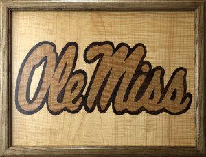 Ole Miss marquetry logo
