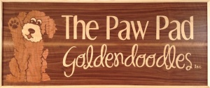 The Paw Pad Goldendoodles Business Logo