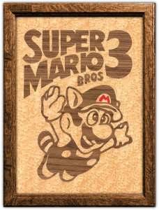 Super Mario 3 Marquetry