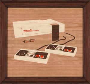 Adam Stephey NES console marquetry v6